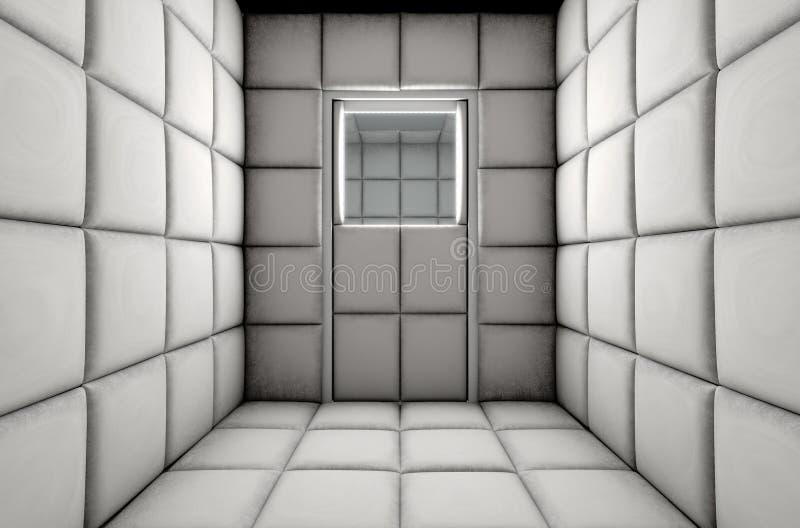 Пустая проложенная дверь закрытая клеткой иллюстрация штока