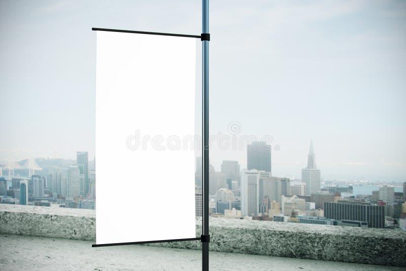 Пустая прямоугольная афиша флага парламентера стоковая фотография
