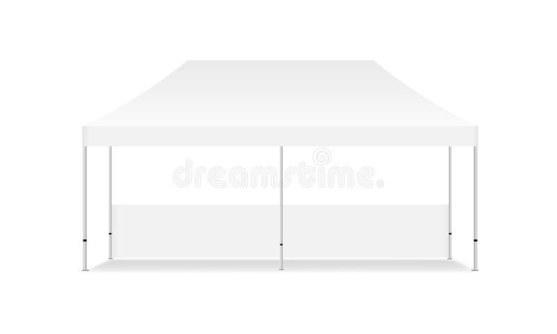 Пустая прямоугольная вверх изолированная насмешка шатра дисплея бесплатная иллюстрация