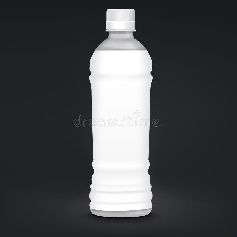 пустая пластмасса ярлыка бутылки иллюстрация вектора