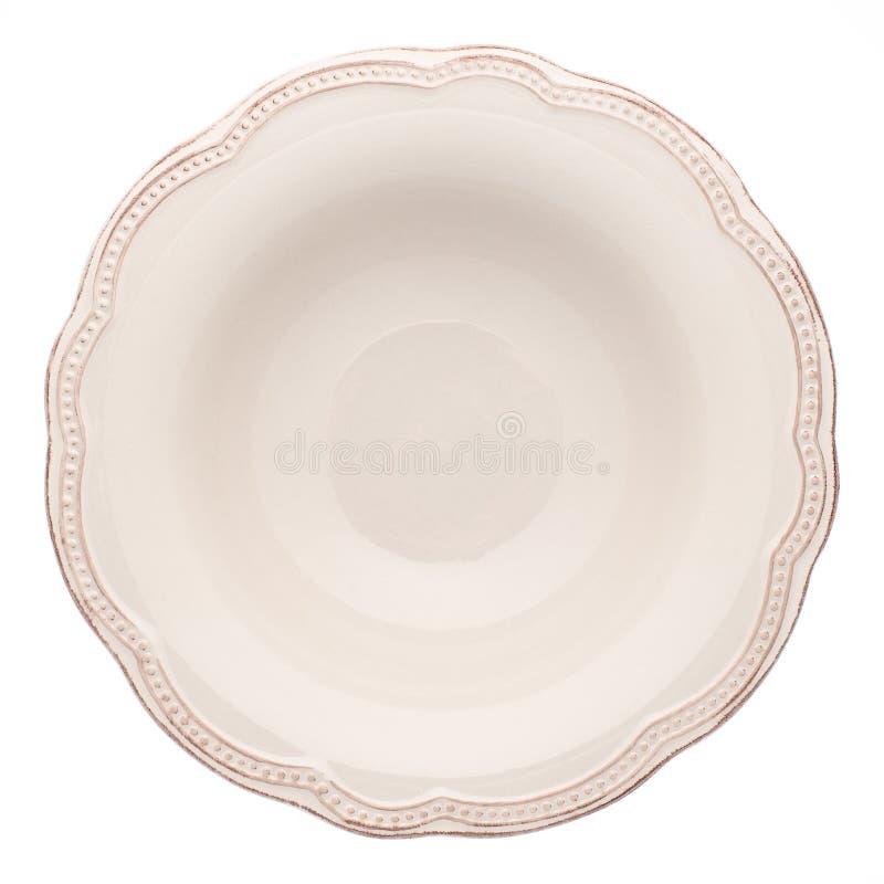Пустая плита супа стоковое изображение