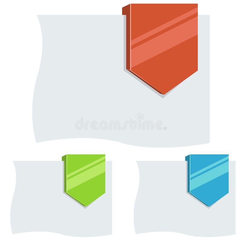 Пустая плоская дизайна бирка стрелки вниз бесплатная иллюстрация