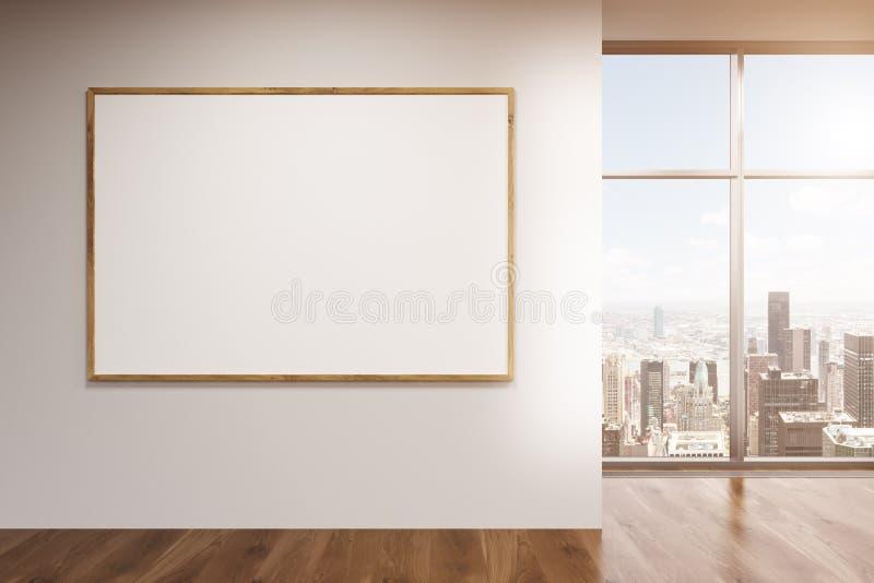 Пустая рамка в комнате иллюстрация штока