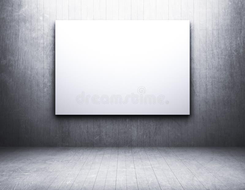 Пустая рамка в пакостной пустой комнате стоковая фотография rf