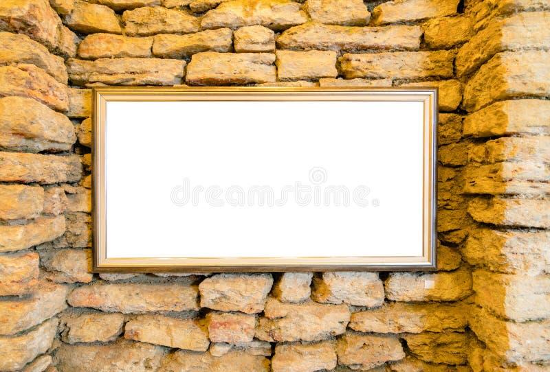 Пустая рамка на стене в экспонате Bla галереи музея современного искусства стоковое фото