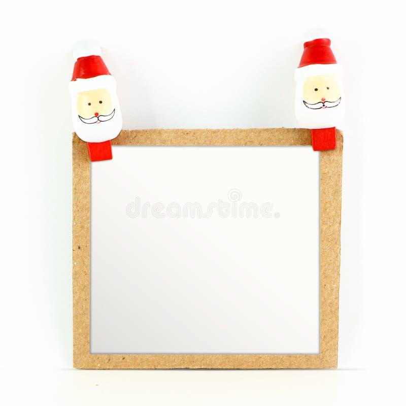 Пустая рождественская открытка с Сантой стоковая фотография