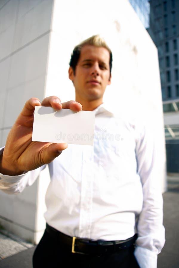 пустая рука визитной карточки стоковое изображение