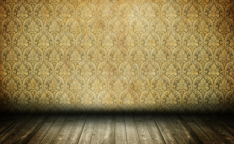 пустая старая комната стоковые фото