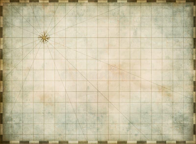 Пустая старая предпосылка карты бесплатная иллюстрация