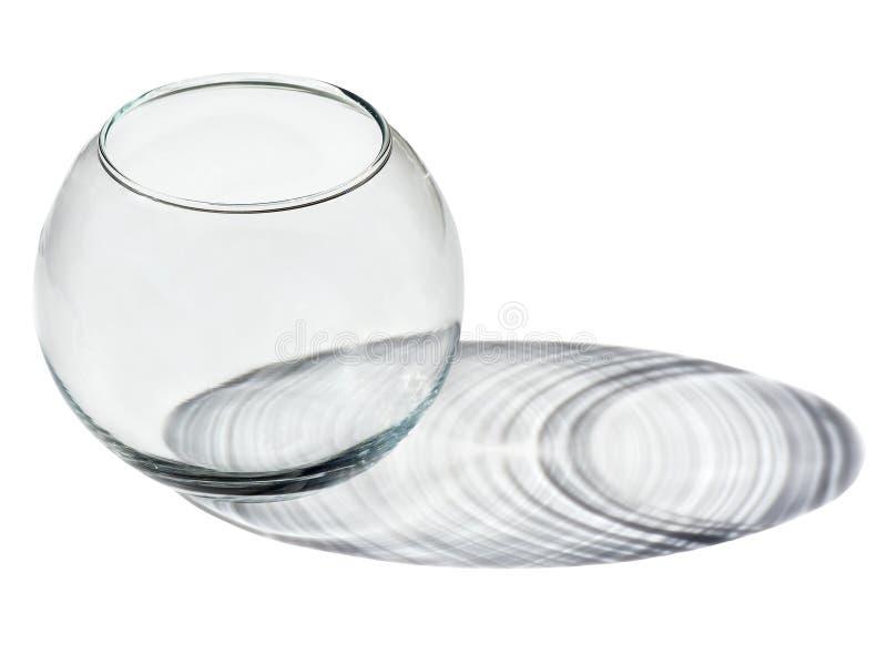 Пустая стеклянная ваза с тенью стоковые фотографии rf