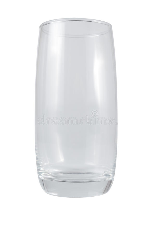 Пустая стеклянная чашка изолированная на белизне стоковое изображение rf