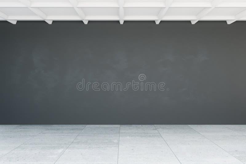 Пустая стена в комнате иллюстрация вектора