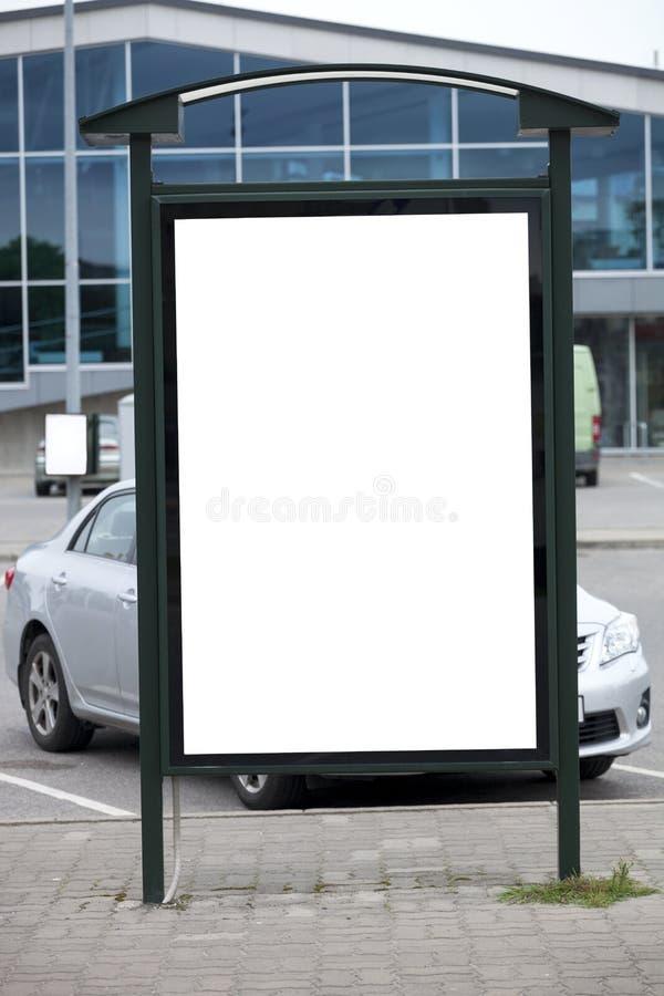 Пустая стойка bilboard стоковое изображение