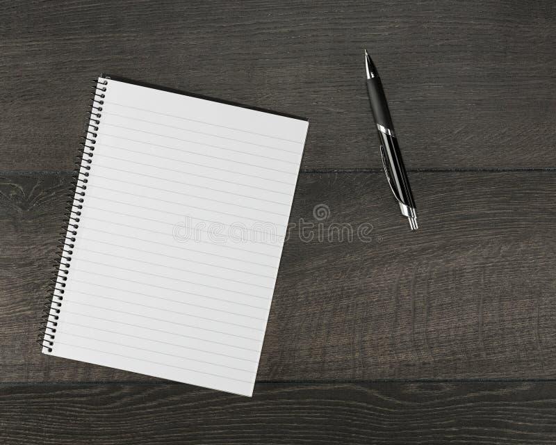 Пустая страница в тетради стоковая фотография rf