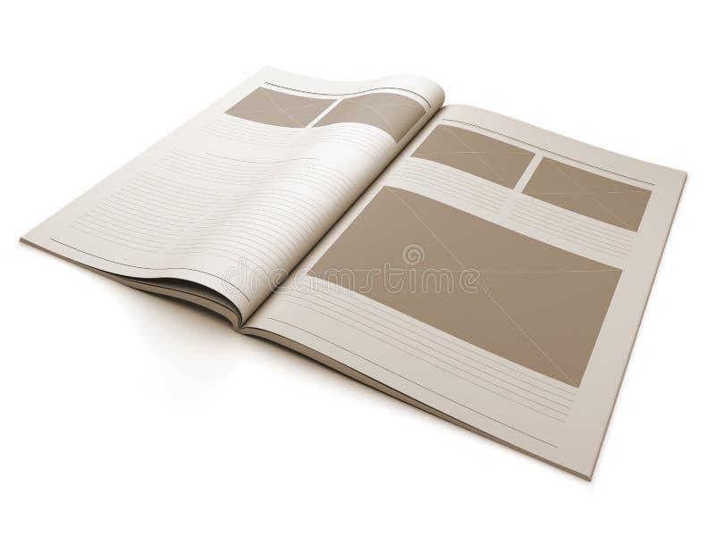 пустая страница кассеты плана конструкции иллюстрация штока