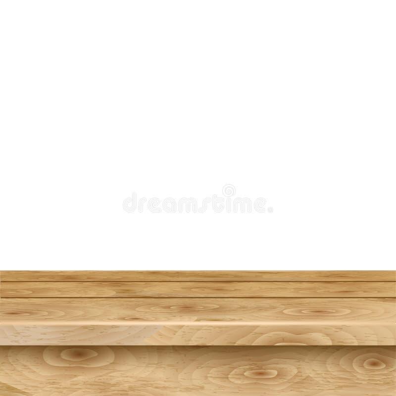 Пустая таблица русых деревянных планок иллюстрация вектора