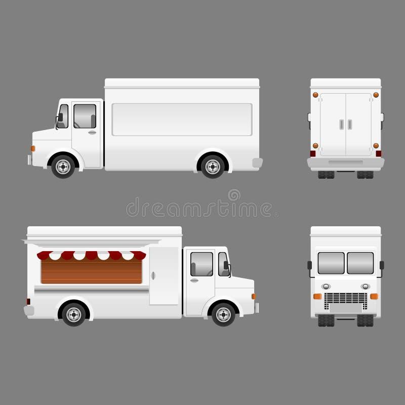 Пустая тележка еды иллюстрация вектора