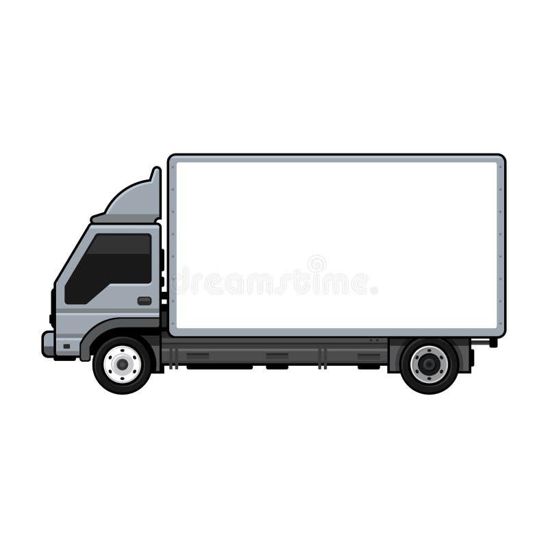 Пустая тележка транспорта для груза на белой предпосылке вектор бесплатная иллюстрация
