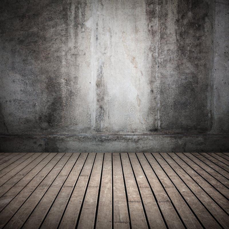 Пустая темная абстрактная старая внутренняя предпосылка стоковые фотографии rf