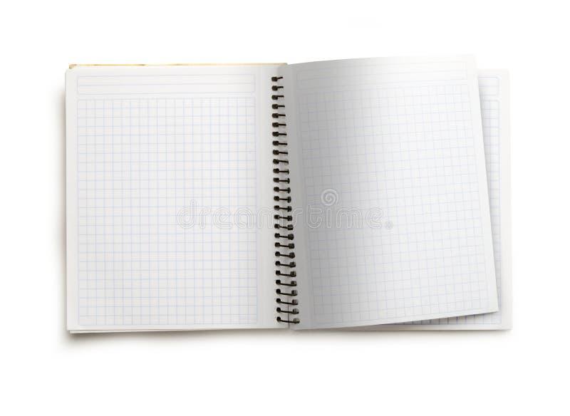 пустая тетрадь открытая стоковая фотография rf