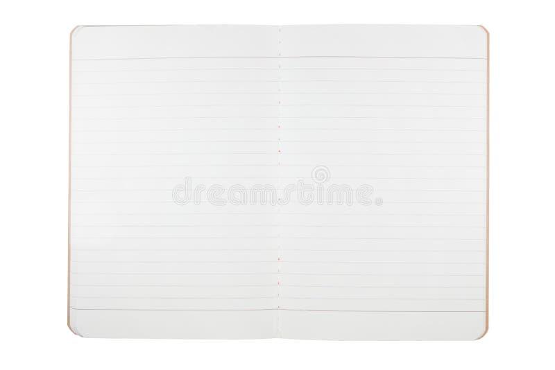 Пустая тетрадь от рециркулирует бумагу стоковое фото rf