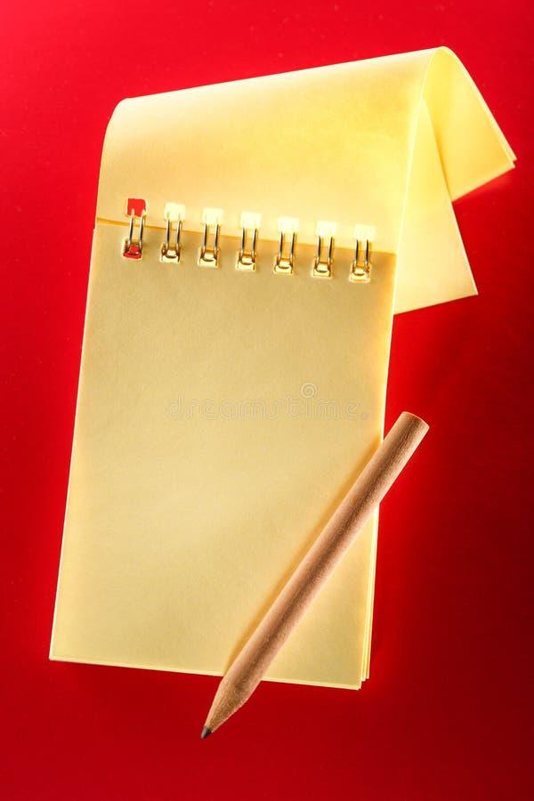 пустая тетрадь открытая стоковое фото rf