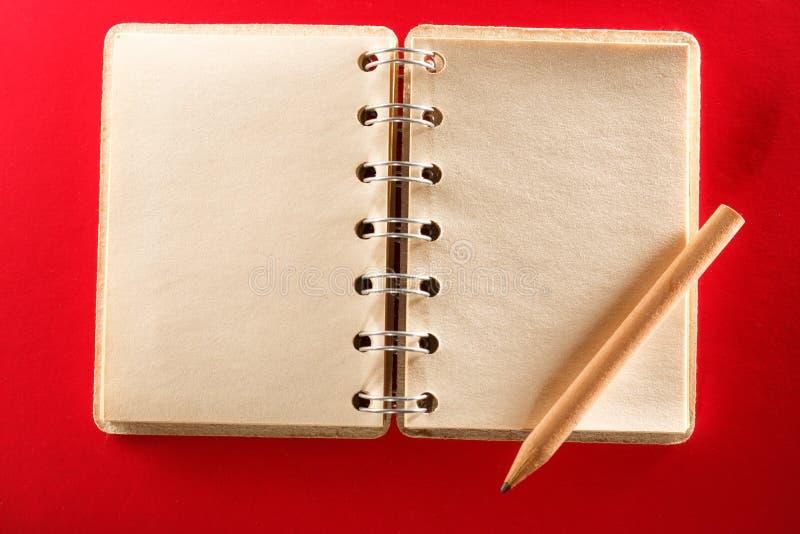 пустая тетрадь открытая стоковое изображение rf