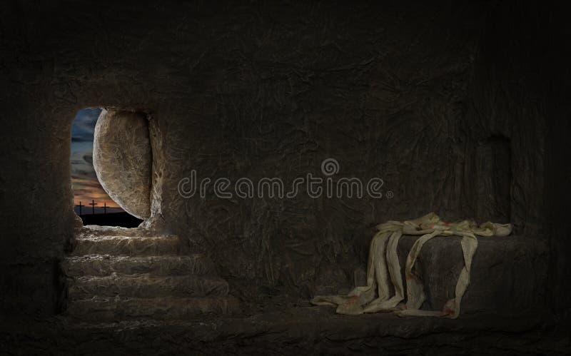 Пустая усыпальница Иисуса стоковое фото rf