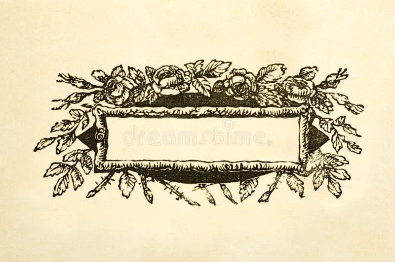 Пустая флористическая викторианская коробка названия стоковые изображения