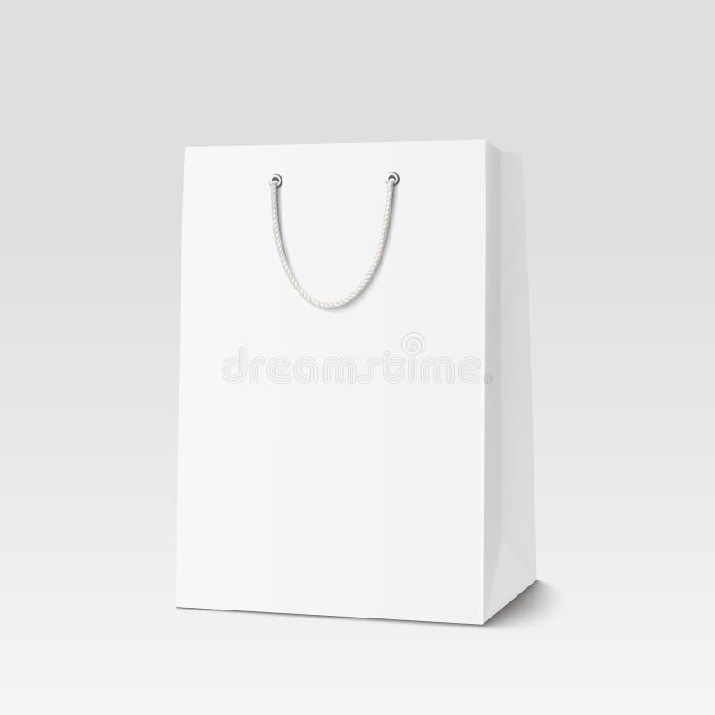 Пустая хозяйственная сумка для рекламировать и затаврить иллюстрация вектора