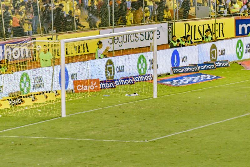 Пустая цель футбола на матче лиги Гуаякиле эквадоре стоковое изображение rf
