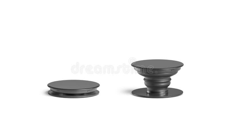 Пустая черная насмешка гнезда попа телефона вверх, изолированный, вид спереди иллюстрация штока