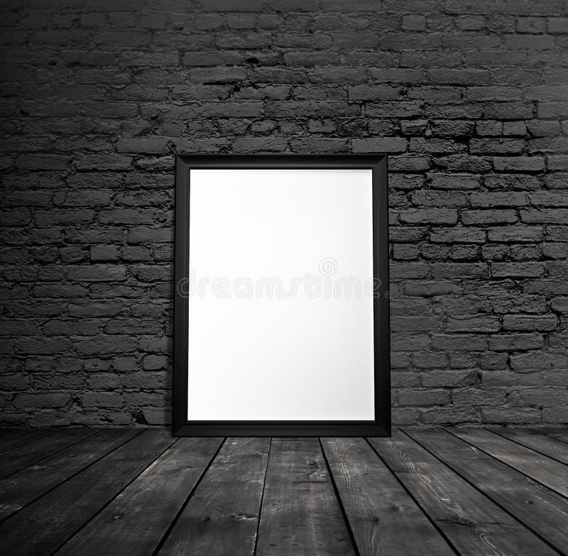 Пустая черная рамка стоковые фото