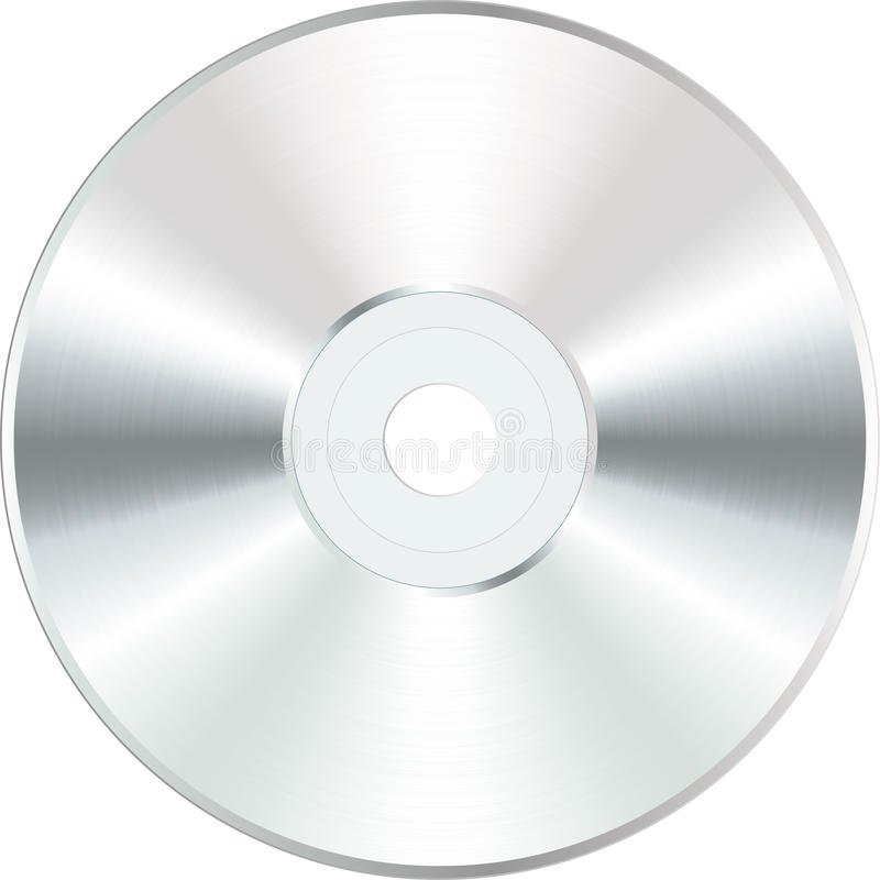 пустая cd белизна иллюстрация вектора