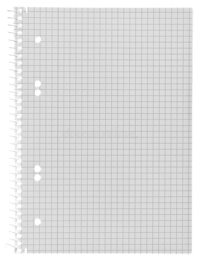 Пустая checkered бумажная спиральная тетрадь стоковое изображение