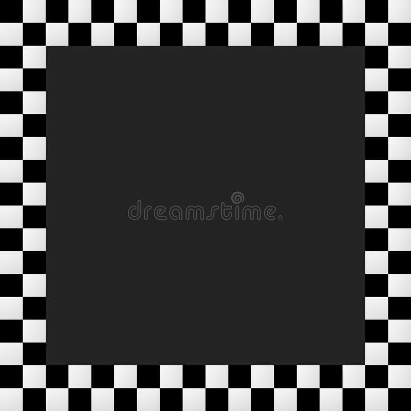 Download Пустая Squarish Checkered рамка, граница Иллюстрация вектора - иллюстрации насчитывающей бульвара, проверено: 81805790