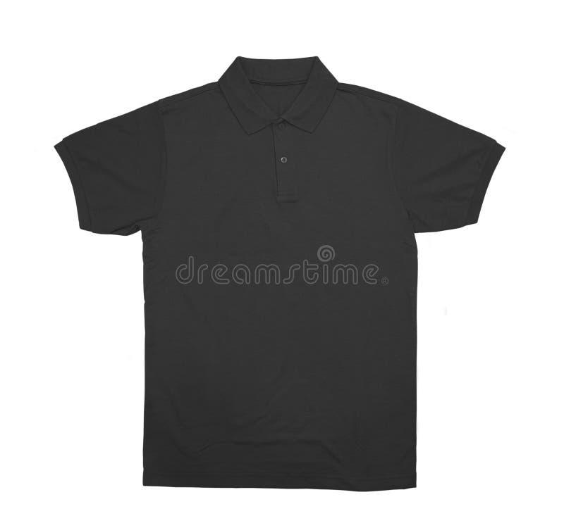 Пустое вид спереди черноты цвета рубашки поло стоковые фото