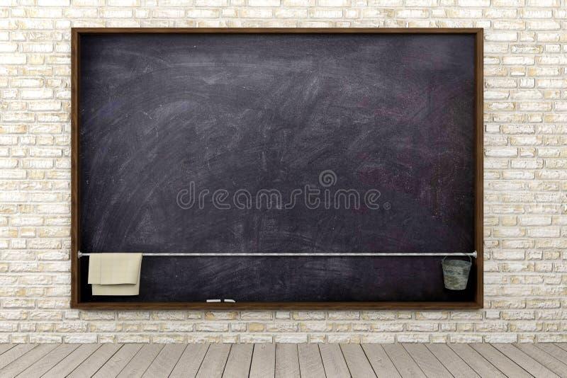 Пустое классн классный в комнате кирпичной стены стоковое изображение rf