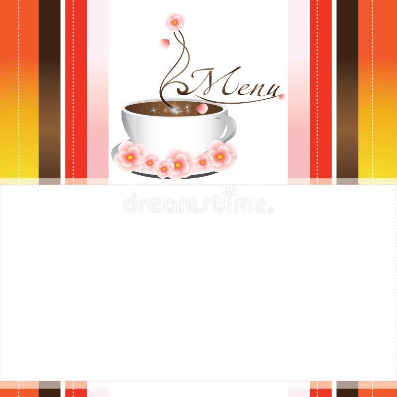 пустое меню кофе бесплатная иллюстрация