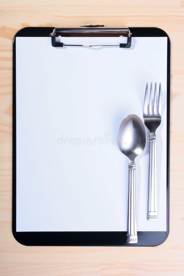 пустое меню clipboard стоковая фотография rf