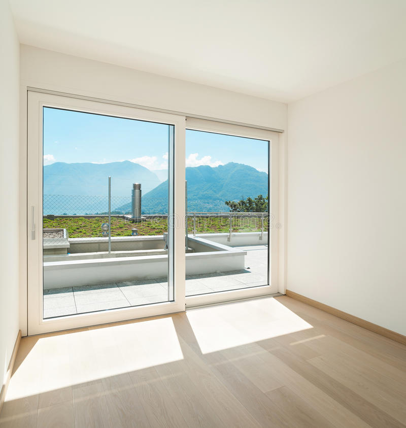 пустое окно комнаты стоковая фотография