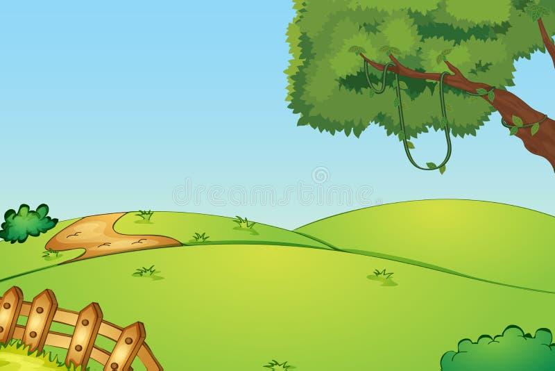 Пустое поле иллюстрация вектора