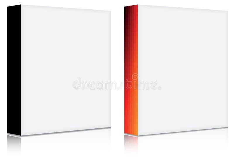 пустое ПО коробки 3d иллюстрация вектора