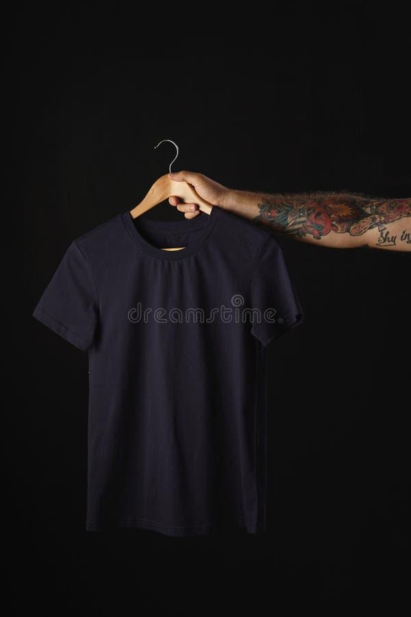 Пустое представление футболок стоковое изображение