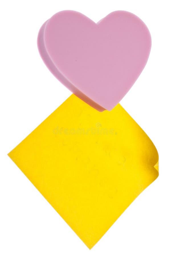 Download пустое примечание сердца стоковое фото. изображение насчитывающей запрещено - 18399054