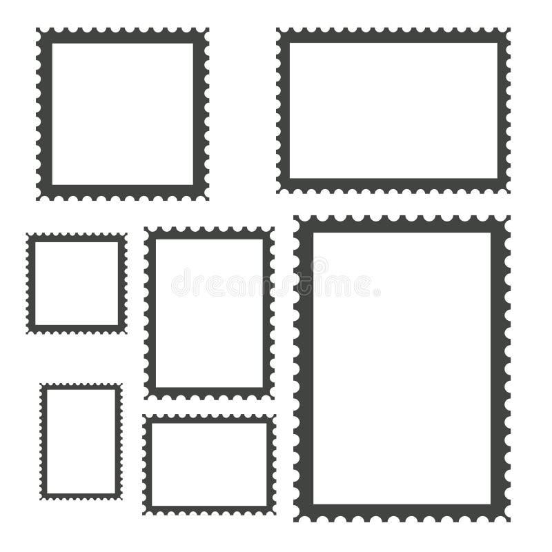 Пустое собрание штемпелей почтового сбора, иллюстрация вектора запаса иллюстрация вектора