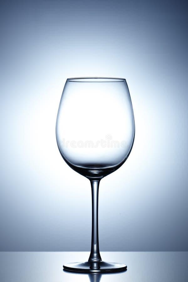 Пустое стекло вина стоковые изображения rf