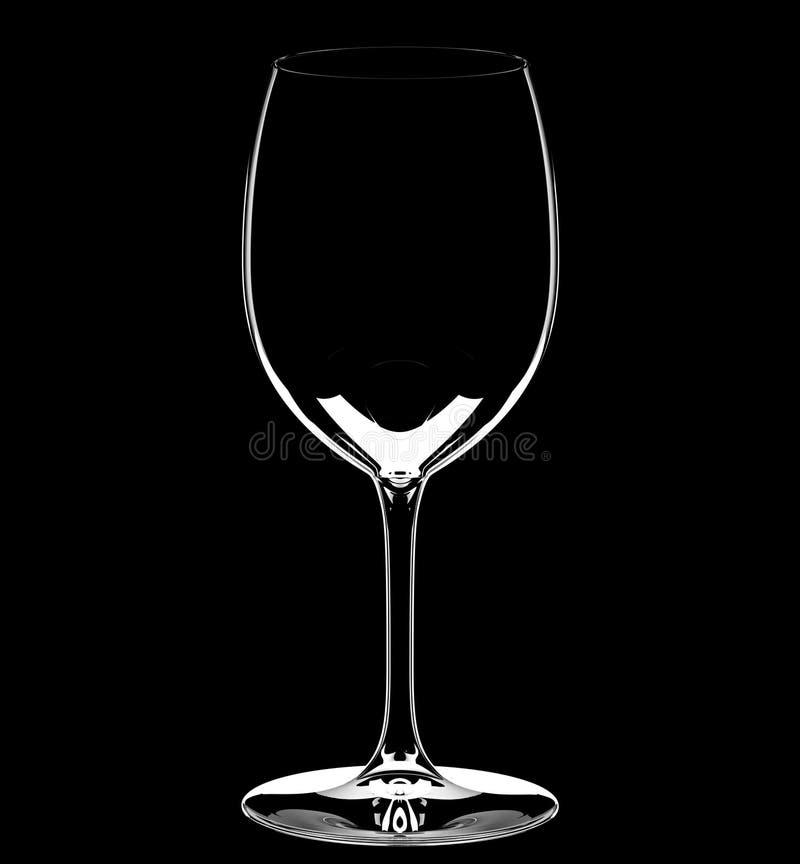 пустое стеклянное одиночное вино стоковые фото