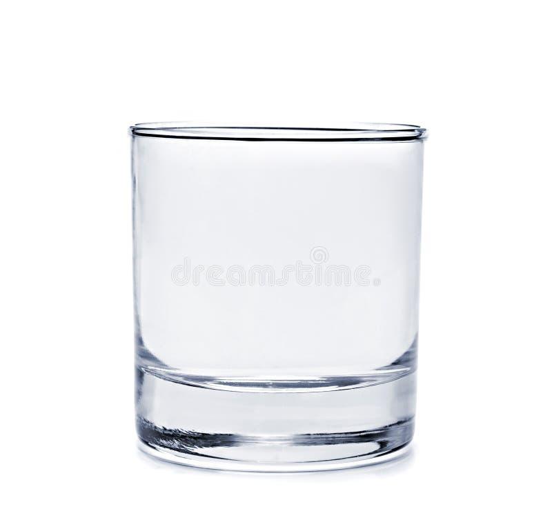 Пустое стекло для воды стоковое фото