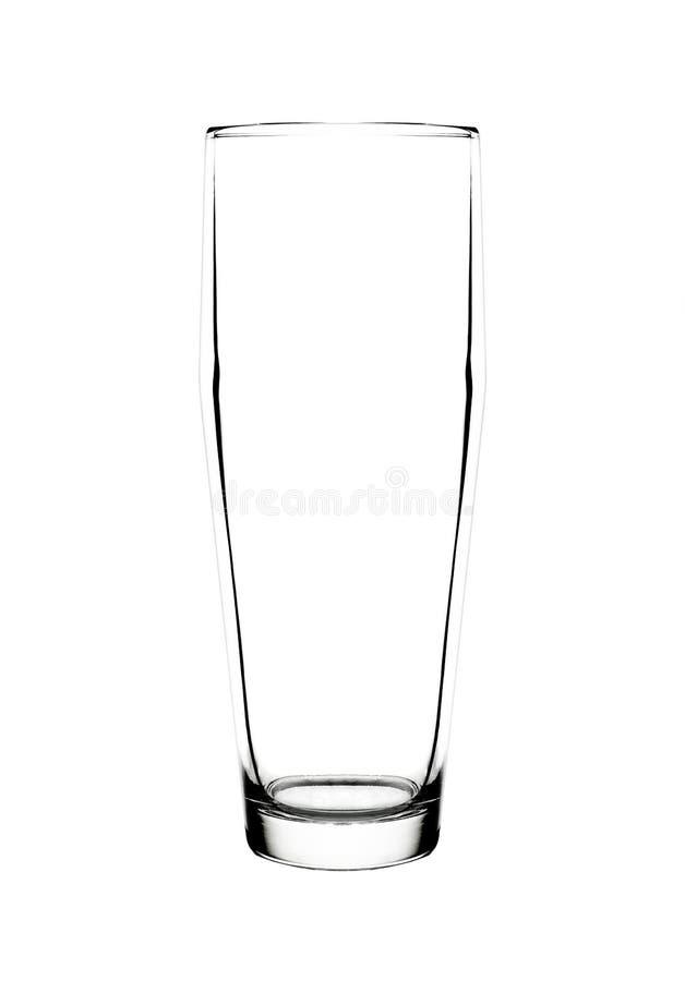 Пустое стекло для воды стоковые фотографии rf